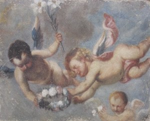 Cherubs-Faux Fresco